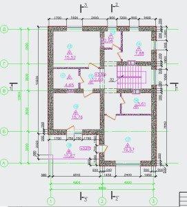 Проект коттеджа 55-12 - план второго этажа