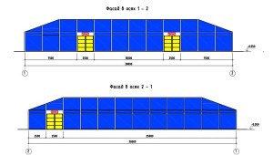 Проектирование модульного павильона - фасады быстровозводимого павильона