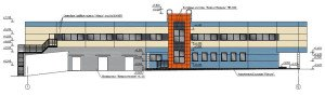 Проектирование реконструкции здания - фасад