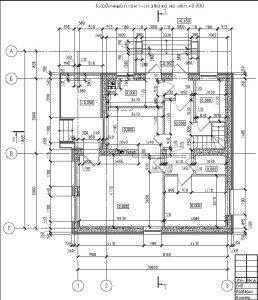 Проект коттеджа 38-92 - кладочный план