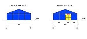Проектирование модульного павильона - фасады быстовозводимого павильона