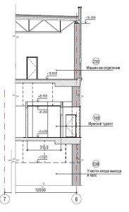 Проектирование реконструкции зоны санузлов