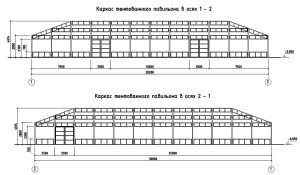 Проектирование модульного павильона - каркас павильона