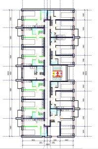Проект многоквартирного дома - план первого этажа