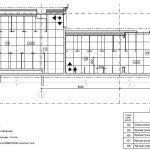Проектирование реконструкции зоны санузлов - схема раскладки потолочной плитки
