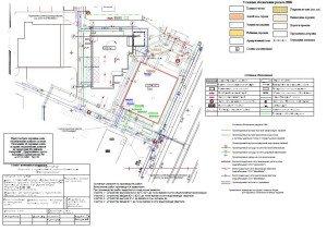 ППР на монтаж сетей водоснабжения и канализации - строительный генплан