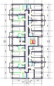 Проект многоквартирного дома - план мансардного этажа