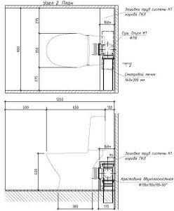 Проектирование реконструкции зоны санузлов - инженерные системы