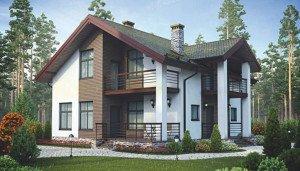 Готовые проекты домов, Проект коттеджа 38-92