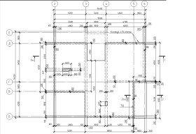 опалубочный чертеж плитный фундамент
