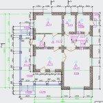 Проект коттеджа 55-12 - план первого этажа
