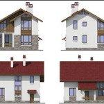 Проект коттеджа 55-12 - фасады