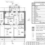 Проект коттеджа 38-92 - маркировочный план первого этажа