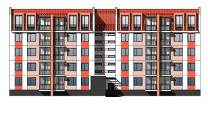 Проект многоквартирного дома - фасад жилого дома