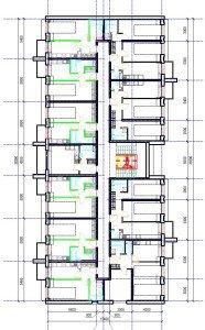 Проект многоквартирного дома - план 2-4 этажей