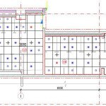 Проектирование реконструкции зоны санузлов - сводный план потолков